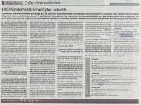 Regard sur les Collectivités territoriales : les recrutements de plus en plus sélectifs - Dossier Le Monde Eco avril 2013)